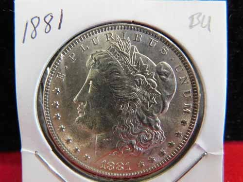 1881 Morgan Silver Dollar BU