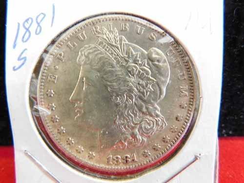 1881-S Morgan Silver Dollar AU