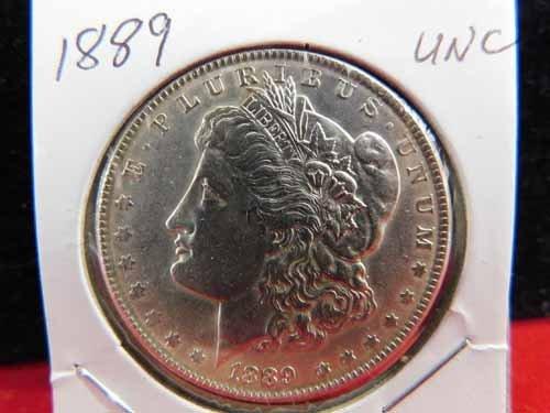 1889 Morgan Silver Dollar UNC