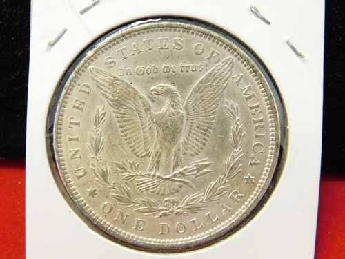 1890 Morgan Silver Dollar AU - 2