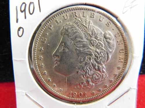 1901-O Morgan Silver Dollar EF