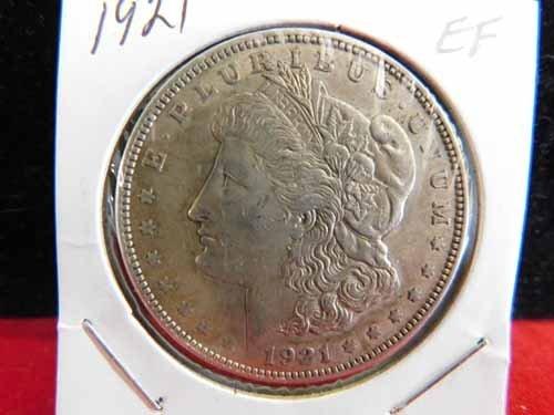 1921 Morgan Silver Dollar EF