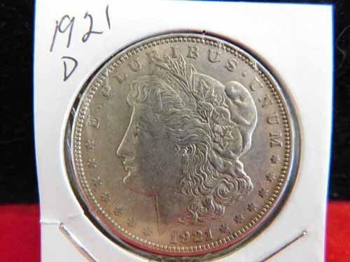 1921-D Morgan Silver Dollar EF