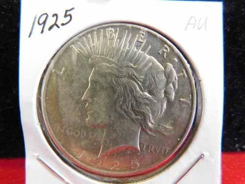 1925 Peace Silver Dollar AU