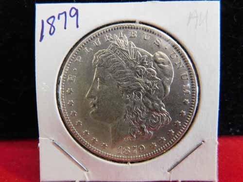 1879 Morgan Silver Dollar AU