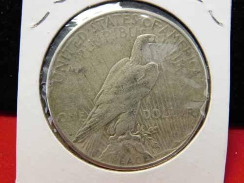 1922-S Peace Silver Dollar VF - 2