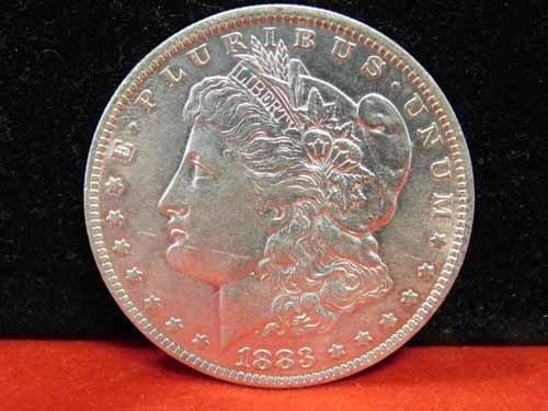1883-O Morgan Silver Dollar AU
