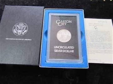 1883-CC Carson City Morgan Silver Dollar GSA pack w/COA
