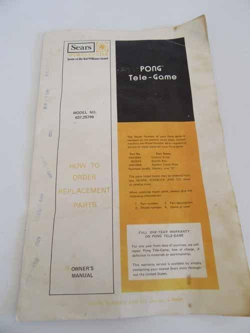 Atari Sears Tele-Games Electronic Games Pong - 4