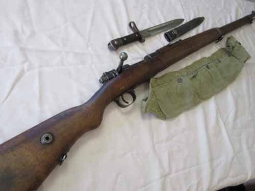 WWII Era Turkish 9mm Rifle with Bayonet