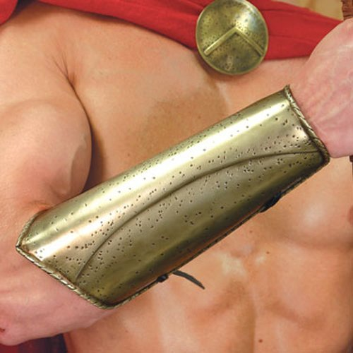 """""""300"""" movie Brass Spartan Vambraces and Greaves"""