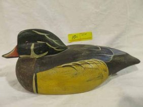 Wooden Decoy Duck. 6x15