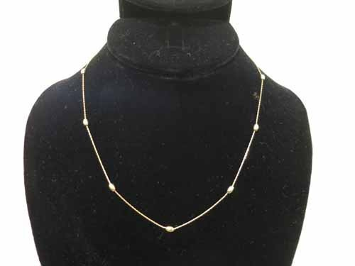 14k gold necklace, 2.8g.