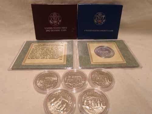 8 Commemorative Half dollars, 1893 Colombian expo, (4)