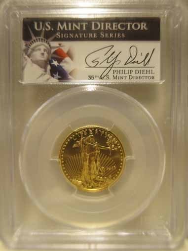 (4) 2013 PCGS MS70 Gold Eagle coins. - 7