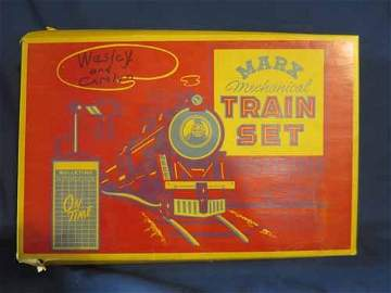 Marx Mechanical Train set. Box is broken.