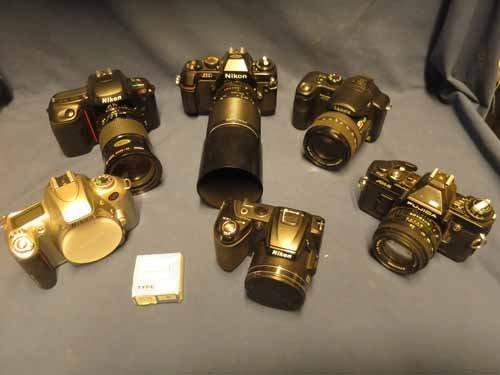 6 Cameras (4 Nikons, 1 Lumix, 1 Fujica)