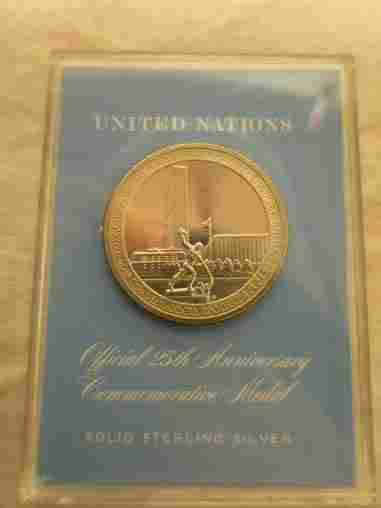 1970 United Nations 25th Anniversary Sterling Silver