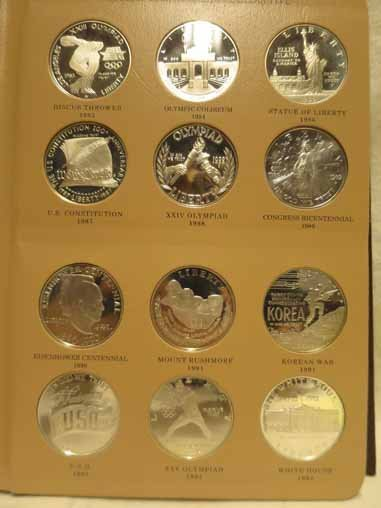 Complete Set of US Commemorative Silver Dollars