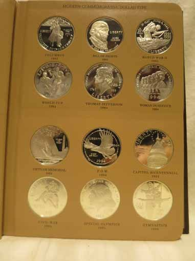 Complete Set of US Commemorative Silver Dollars - 2