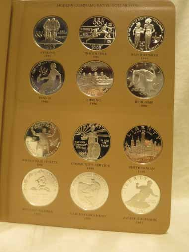 Complete Set of US Commemorative Silver Dollars - 3