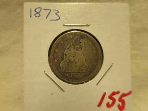 1873 Seated Liberty Quarter