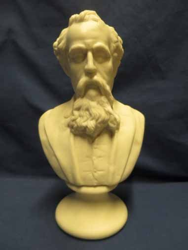 Parian Bust of Charles Dickens, 9x5.5.