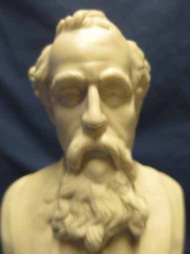Parian Bust of Charles Dickens, 9x5.5. - 2
