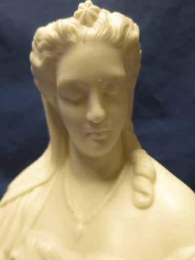 Parian Bust of a Woman, 8.5x5.5. - 2