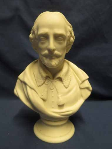 Parian Bust of Shakespeare 7x5.5in