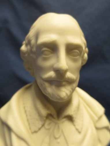 Parian Bust of Shakespeare 7x5.5in - 2