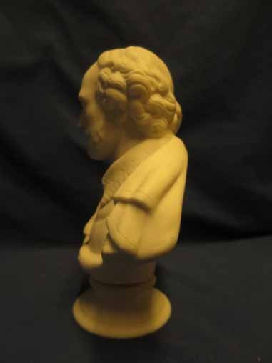 Parian Bust of Shakespeare 7x5.5in - 3