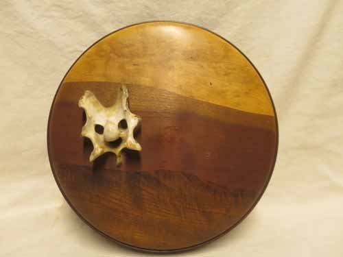 """""""Banshee Bone"""" Wooden dish with lid Signed R. Altenond"""