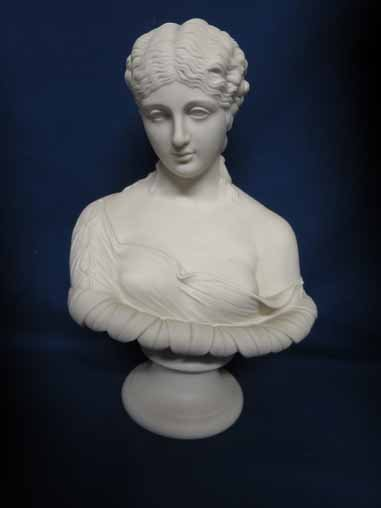 Parian bust of woman.