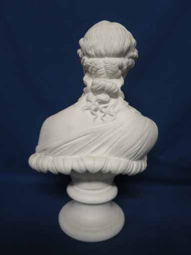 Parian bust of woman. - 3