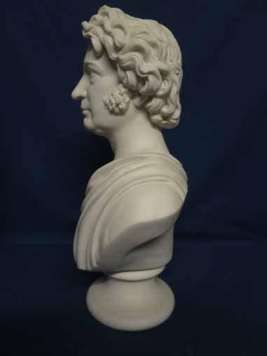Parian bust of Charles Sumner. - 2