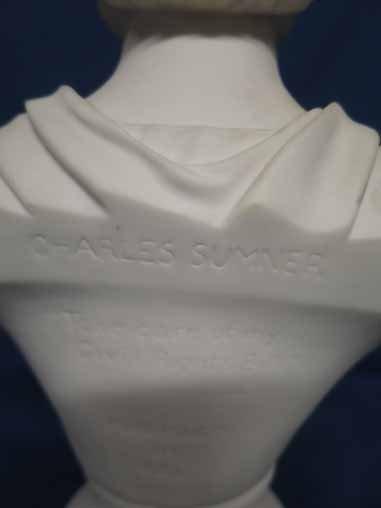 Parian bust of Charles Sumner. - 4