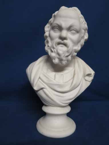 Parian bust of Socrates.