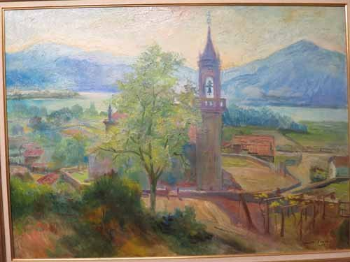 Oil on Canvas Chapel in the Meadow Signed Xavier Ponsa - 2