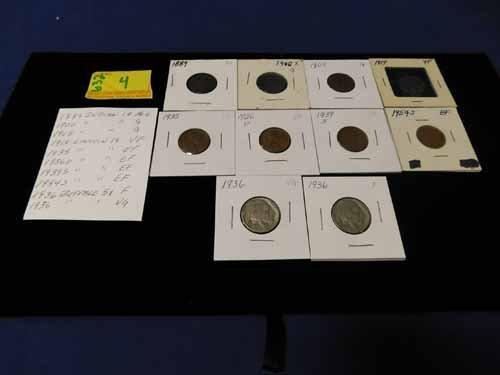 Indian Head Pennies and Buffalo Nickels