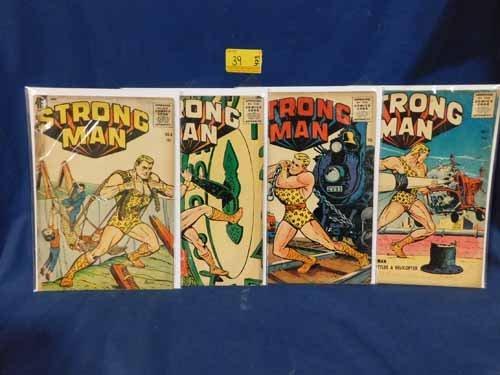 (4) Strong Man Comic Books