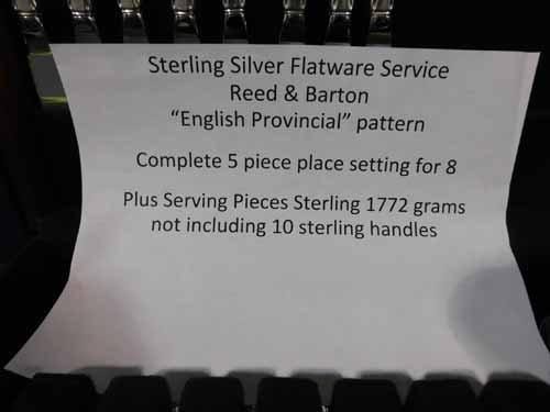Reed & Barton Silverware Set