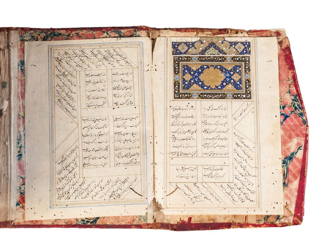 A Safavid album of Divans, signed and dated