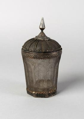 A glass beaker, India, late 19th century, with a domed