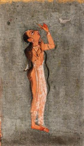 A lady in the golden rain, Basholi school, 18th