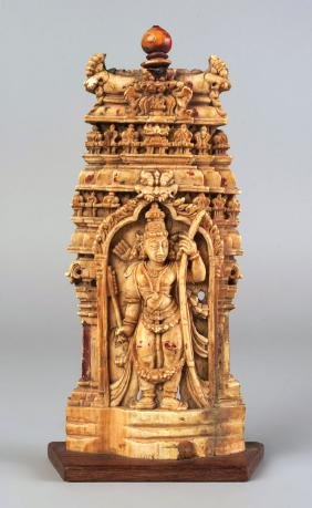 An Indian ivory plaque of Rama, 16th/17th century,
