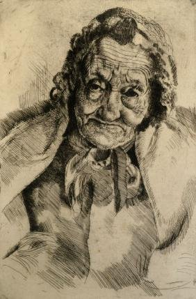 Leon Underwood, British 1890-1975-   ''Granny Ashdown'';