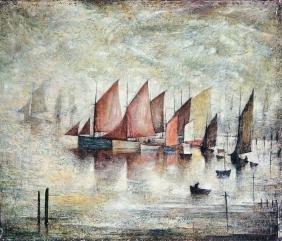 Laurence Stephen Lowry RBA RA,  British 1887-1976-