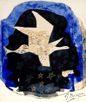 Georges Braque, French 1882-1963-  ''Les étoiles''
