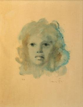 Leonor Fini,  Argentinian 1907-1996-   Head of a young